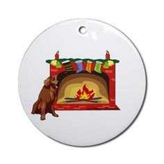 Golden Retriever Xmas Ornament Round Pets Round Ornament by CafePress. This is the perfect Christmas gift for any dog lover This beautiful Golden Retriever is in front of a winter fireplace with xmas stockings. Pets Round Ornament Instantly accessorize bare wall-space with our Round Ornament. Makes great room or office accessories, fun favors for birthday parties, wedding or baby shower Ornaments, or adding a unique, special touch to gift-wrapped packages. Comes with its own festiv. Price…