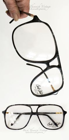 2f3d33770a4 True vintage 70 s oversized aviator eyeglass frames in black marble.  Designer Carlos Alberto. 70s · 70s GlassesAviator ...