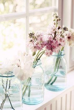 Fensterbank-Blumen