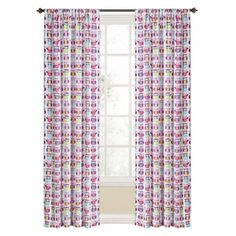 LOWES, SILLY OFFICE FUEST ROOM, Style Selections�Trea 84-in L Light Filtering Multicolor Rod Pocket Window Curtain Panel