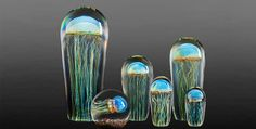 Rick Satava creates incredibly lifelike glass #jellyfish #sculptures. People often wonder if they're real! #art
