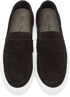 Robert Clergerie - Black Suede Loafer Sneakers
