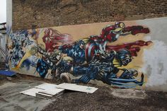 Marvel Grafitti Street Art