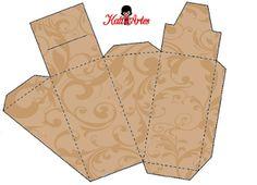 Cajas con arabescos para tarta de cajas, para imprimir gratis.