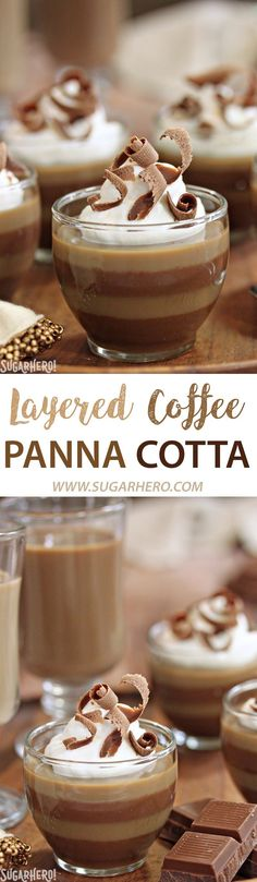 This Layered Coffee Panna Cotta is an easy coffee dessert with gorgeous layers of vanilla and mocha flavors! Check out the step-by-step instructions for a lovely addition to any meal!