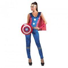 Κάπταιν Σαμ γυναίκεια στολή σούπερ ήρωα με ολόσωμη φόρμα