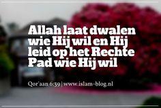Allah laat dwalen wie Hij wil en Hij leid op het Rechte Pad wie Hij wil. Qor'aan 6-39 - www.islam-blog.nl
