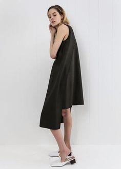 d5823b45bdd8 Tortoise Mollis Black Silk Dress by KAAREM