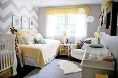 Grey and Yellow Nursery...this is what I'm doing for Em's new room...with some splashes of purple :)