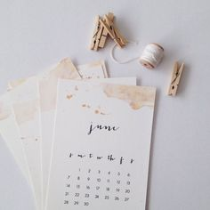 Twelve beautiful months of watercolor. You can choose either mint or honeysuckle, take your pick in the drop down menu. This wall calendar is