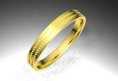 Alianza de oro amarillo de 18K modelo Puntos minimal  Ref.: 750AMA24PUNTOSOro amarillo de 18Kmodelo Puntos minimal superficie brillo #bodas #alianzas #novia | cnavarro.com