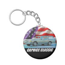 1985 Caprice Classic Wagon Basic Round Button Keychain