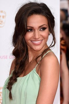 Bridesmaid Hairstyle: Michelle Keegan Nails A Relaxed Fishtail Plait At The TV BAFTAs, 2015