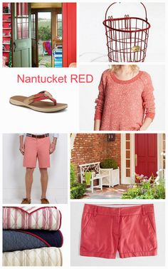 Nantucket Red, same as watermelon? I think it's softer, more faded, maybe more of a summer color than a spring.