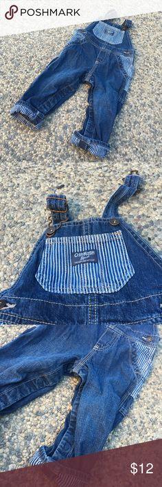 Oshkosh pinstripe overalls Oshkosh pinstripe overalls size 12 mo Osh Kosh One Pieces