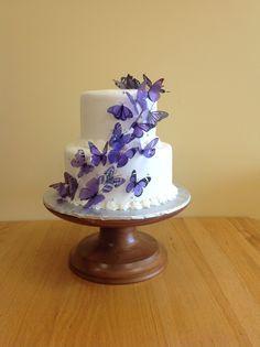 Elegant Butterfly Wedding Cake By Sarau0027s Sweet Bakery Grand Rapids MI Design