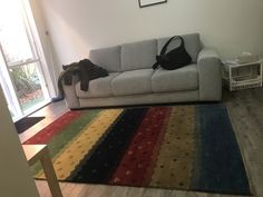 Couch and rug in my brother's new Brighton Road home New Brighton, Brother, Couch, Contemporary, Rugs, Life, Home Decor, Farmhouse Rugs, Settee