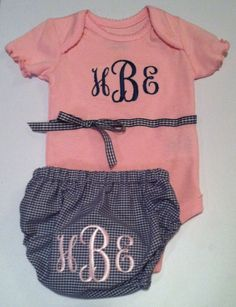 Monogrammed Baby Gift Set by ButtonsAndBritches on Etsy, $25.00