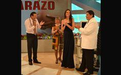 [FOTOS] Natalie Vértiz visitó Doctor TV para conocer a su 'leoncito'