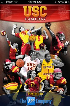 The new USC Gameday App is now used for 8 sports.