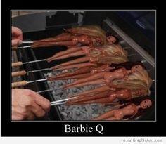 Les Barbies s'offrent une séance de bronzage, à consommer avec modération sous peine de fondre au soleil :-)
