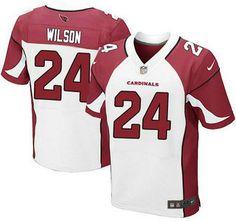 Arizona Cardinals Jersey 24 Adrian Wilson White Road NFL Nike Elite Jerseys