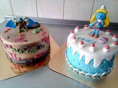 Dve malé tortičky / každá priemer 20cm/ putovali súrodencom ktorý tento víkend spolu oslavovali.....prajem všetko len to najlepšie.....Two small cakes / every 20cm diameter / wandered siblings who celebrated this weekend ..... I wish everything only the best .....