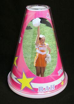Cheerleading Megaphone Photo Frame   Starkey Designs