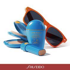 Texture diverse, stesso obiettivo: #bellezza e #protezione anche in spiaggia con i #fondotinta #solari #Shiseido! http://www.shiseido.it/#/suncare/suncare/sun-makeup