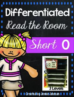 Short O Differentiated Read the Room - With purchase you receive 20 short O word cards, 2 different front page choices, and 2 different page page choices. Great for Kindergarten, 1st, or 2nd grade! 12 pages $