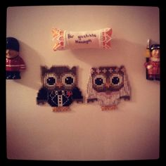 my 'just' married owl couple. Happily ever after:) #crossstitch