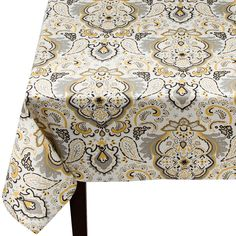 Threshold� Paisley Medallion Rectangle Tablecloth - Yellow
