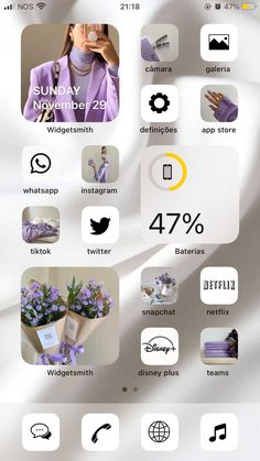 Iphone Home Screen Layout, Iphone App Layout, Iphone App Design, Ios Design, Iphone Homescreen Wallpaper, Wallpaper App, Icones Do Iphone, Organize Phone Apps, Ios Update