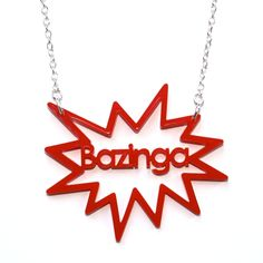 Bazinga Big Bang Theory Necklace 2 | Quirky & Kitsch Jewellery & Accessories