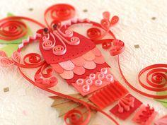 小紙クラフト - Kogami Craft Paper Quilling Designs, Quilling Ideas, Quilling Animals, Flower Petals, Paper Design, Paper Flowers, Gift Wrapping, Christmas Ornaments, Holiday Decor