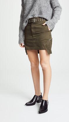 ecc9b676320c Helmut Lang Military Patch Skirt Στρατιωτικά