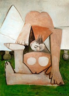 Acheter Tableau 'nu femme sur une `couch`' de Pablo Picasso - Achat d'une reproduction sur toile peinte à la main , Reproduction peinture, copie de tableau, reproduction d'oeuvres d'art sur toile