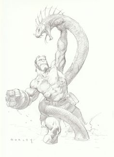 Alex Horley-Hellboy-SDCC 2009 Comic Art