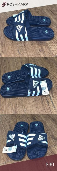 9e07faeb42acc NWT Men s Adidas Adissage Flip Flop Sandals Sz 12 These slides are brand  new with the