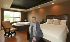 LaNette McQuitty, midwife and owner of Authentic Birth Center Wellness Collective in the Serenity Suite. It's one of three birth suites feat...