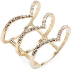 Bianca Pratt Women's Triple Tiara Diamond Ring