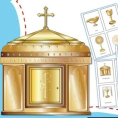 The items found in a Catholic church can be confusing! These beautiful flash cards make it easy to teach children in your homeschool, classroom or religious education class.