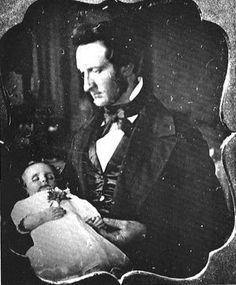 Victorian father with dead baby