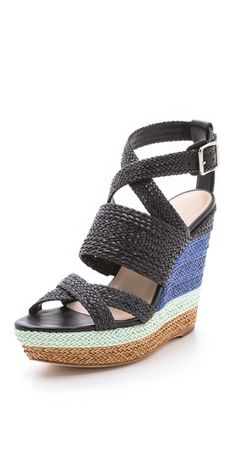 Loeffler Randall Lake Strappy Wedge Sandals | SHOPBOP