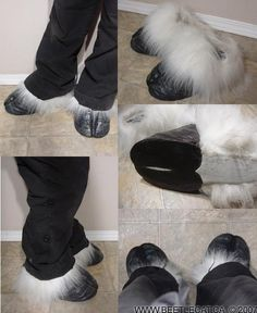 My first pair of cloven hoof feet. They were based upon real bison hooves and are made to be as realistic as possible. They are made from foam and latex and are very comfortable, yet are durable en...