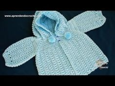 Step-by-step baby cardigan - Learning crochet Crochet Hooded Scarf, Crochet Blouse, Crochet Snowflake Pattern, Crochet Patterns, Filet Crochet, Knit Crochet, Crochet Shrugs, Crochet Crocodile Stitch, Pull Bebe