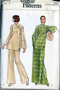 Vintage 80s Vogue 9304 UNCUT Misses Asian Evening von RomasMaison