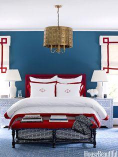 """Lindsey Coral Harper for House Beautiful Benjamin Moore """"Van Deusen Blue"""""""