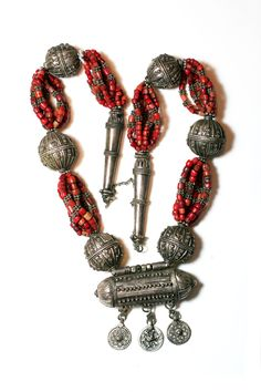 Yemen Coral & Silver Necklace from our by ScottsdaleBeadSupply