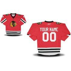 Reebok Chicago Blackhawks Youth Replica Home Custom Jersey - Red 75543a60c